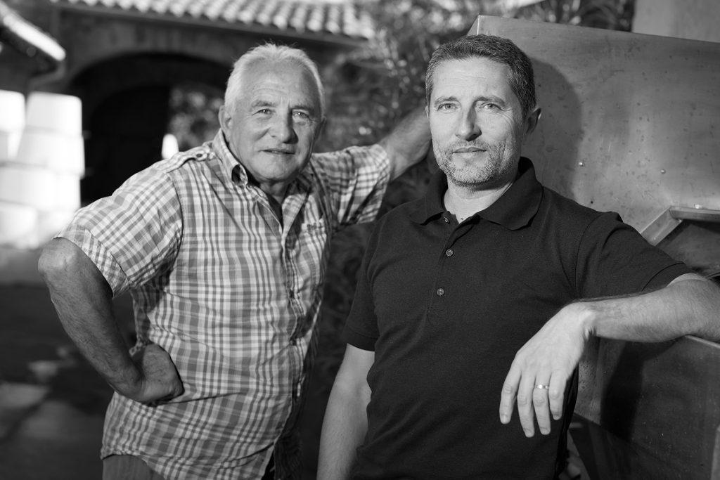 Nicolas Serrette et son père